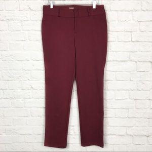 Michael Kors 8 Cranberry Ponte Skinny Career Pants